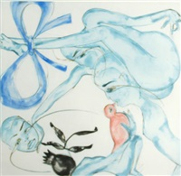 yellow, red or blue by francesco clemente