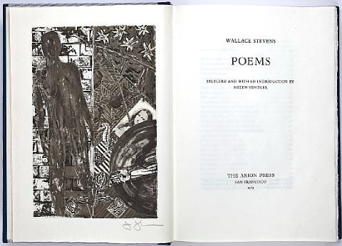 poems bk by wallace stevens w frontispiece folio by jasper johns