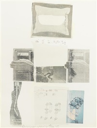 two reasons birds sing, from suite of nine prints by robert rauschenberg