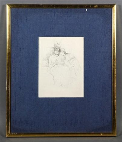 friends sketching by berthe morisot