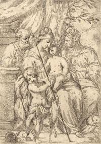 die heilige familie mit elisabeth und johannes d. t. by giuseppe diamantini
