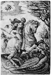 der hl. georg im kampf mit dem drachen by daniel hopfer