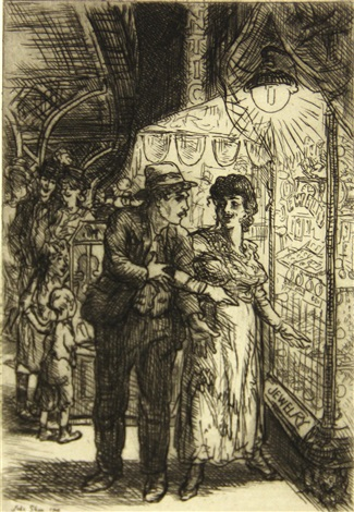 jewelry store window (carlotta's indecision) by john french sloan
