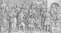 kaiser antoninus bringt ein opfer dar by leonard thiry