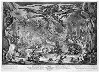die versuchung des hl. antonius (after jacques callot) by pierre picault