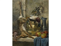 a still life with a dead hare by e.m. samson