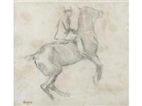 cheval se cabrant (la courbette) by edgar degas