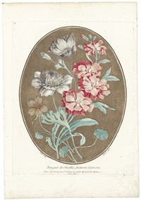 bouquet de giroflée, anémone, capucine (after carle) by louis marin bonnet
