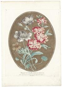 bouquet de giroflée, anémone, capucine (after carle) by louis marin bonnet