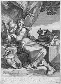 vanitas (after a. bloemaert) by willem isaaksz swanenburgh the elder