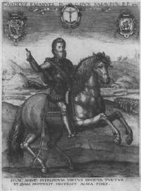 reiterbildnis des herzogs carlo emanuele i. von savoyen by johann nikolaus hogenberg