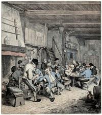 la tabagie hollandaise (rauchende bauern in einer schänke) (after adrian van ostade) by jean françois janinet