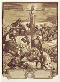 die große kreuzigung (after jacopo tintoretto) by john baptist jackson