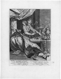 vanitas (after abraham bloemaert.) by willem isaaksz swanenburgh the elder