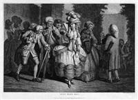 petit waux-hall: promenade von modisch gekleideten figuren by pierre alexandre wille