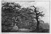 acht landschaften (complete set of 8) by friedrich rauscher
