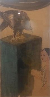 鹰与女孩之一 by liang ying