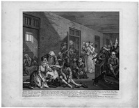 a rakes progress - der werdegang eines liederlichen (8 works) (from a harlot's progress) by william hogarth
