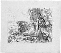 stehender philosoph mit zwei anderen figuren by giovanni battista tiepolo