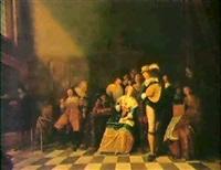 musicerande sallskap- allegori over de fem sinnena by adriaen lucasz fonteyn