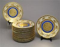 cabinet plates (set of 18) by d. w. porzellanmanufaktur (co.)
