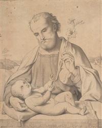 hl. josef mit dem jesusknaben by peter becker