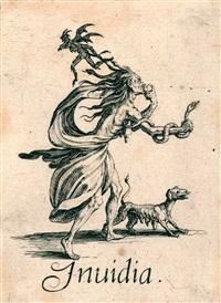 vollständige folge der 7 todsünden les sept péchés capitaux by jacques callot