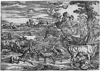 die landschaft mit der kuhmelkerin (after tizian) by niccolo boldrini