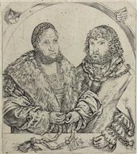 friedrich der weise und johann der beständige, herzöge von sachsen. doppelbildnis by lucas cranach the elder