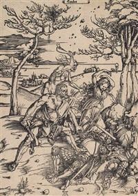 herkules tötet die molioniden (auch: herkules u. cacus) by albrecht dürer