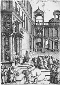 der tempelgang mariae by daniel hopfer