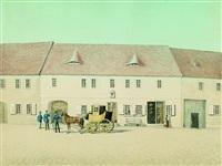 poststation in raghun (sachsen-anhalt), dem elternhaus der gattin des künstlers by heinrich beck