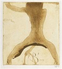 mädchen mit langem haar. 2.5.73 b'rrr by horst janssen