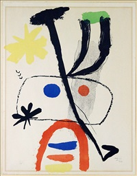 figure with stars by joan miró