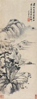 渭水闲岸 by zhang feng