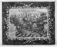 der sieg der venezianischen flotte über die türken by vincenzo maria coronelli