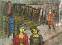 figures on the stairs by louis harris
