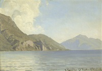 ansicht vom luganer see by janus andreas barthotin la cour