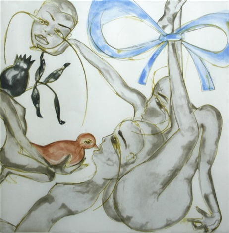 yellow, red, or blue by francesco clemente