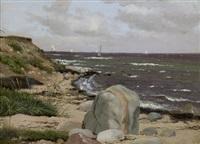 strandpartie mit felsen bei kullen by peter (johann p.) raadsig