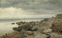 regentag am strand von kulhusrende bei frederiksborg by janus andreas barthotin la cour