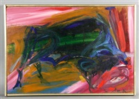 untitled bull by elaine de kooning
