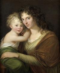 portrait einer mutter mit ihrem kind by friedrich georg weitsch