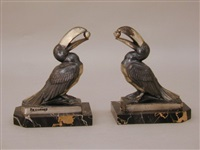 toucan bookend (+ another; pair) by maurice frecourt