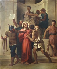 stations of the cross (14 works) by edouard cabane