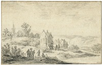 flusslandschaft bei doorwerth by jan josefsz van goyen