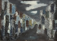 abstract cityscape by pierre bosco