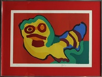 untitled (colorful face) by karel appel