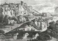 suite de vi vues des environs de rome (6 works after j.p.hackert) by balthasar anton dunker