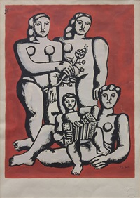 figures (untitled from album of 10) by fernand léger